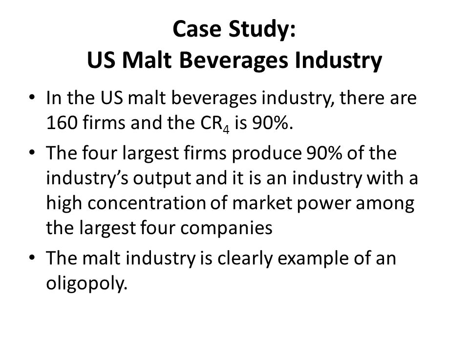 Case Study: US Malt Beverages Industry