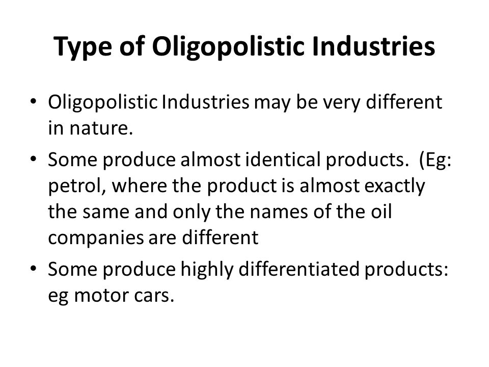 is the oil industry an oligopoly or monopoly It is a simple equation of compounded interest the oil companies know the  equation if they can double their money once a year it doesn't take.