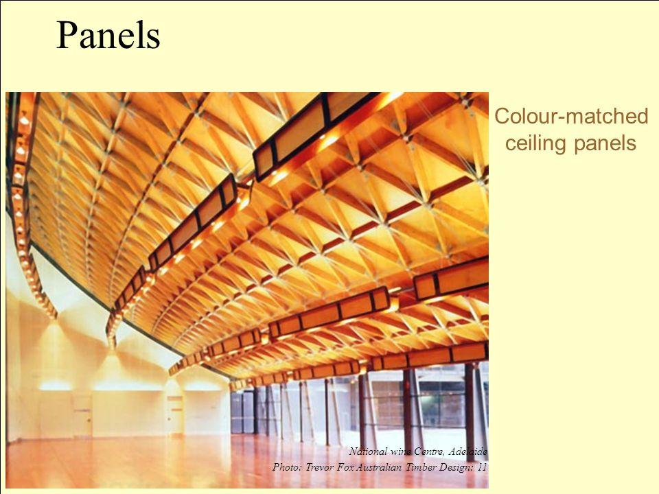 Colour-matched ceiling panels