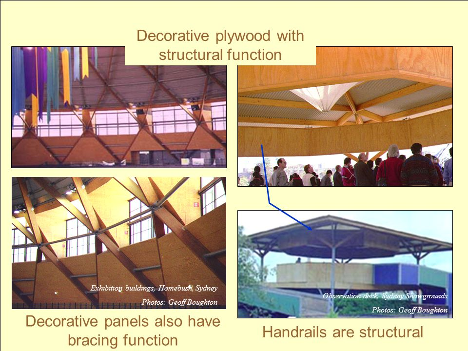 Decorative plywood with structural function