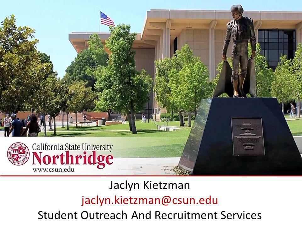 Jaclyn Kietzman jaclyn. kietzman@csun