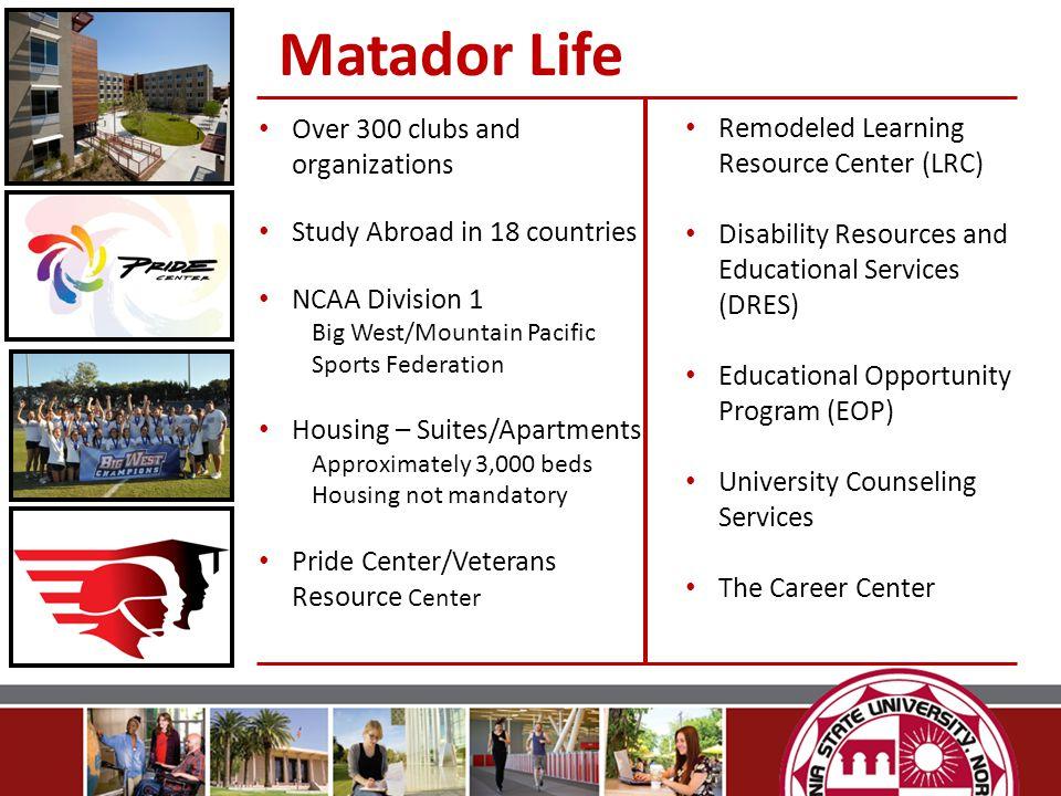Matador Life Over 300 clubs and organizations