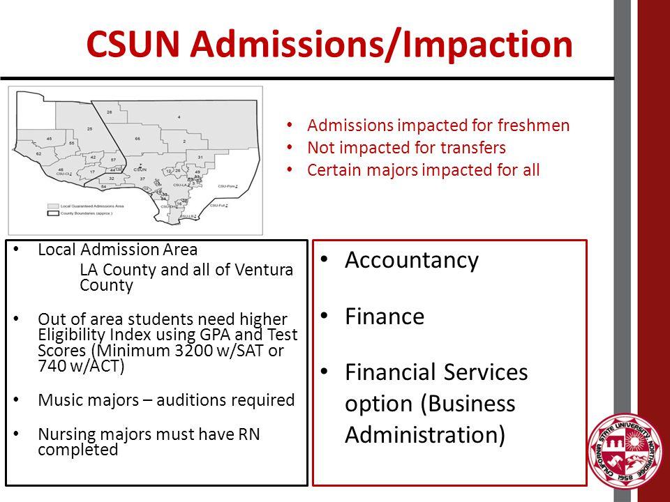 CSUN Admissions/Impaction