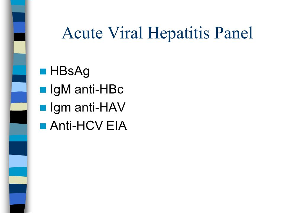 Acute Viral Hepatitis Panel