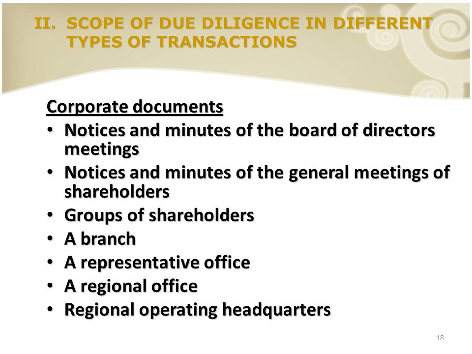 Notices and minutes of the board of directors meetings