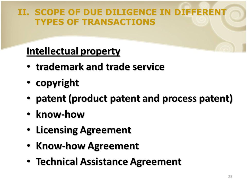 Intellectual property trademark and trade service copyright