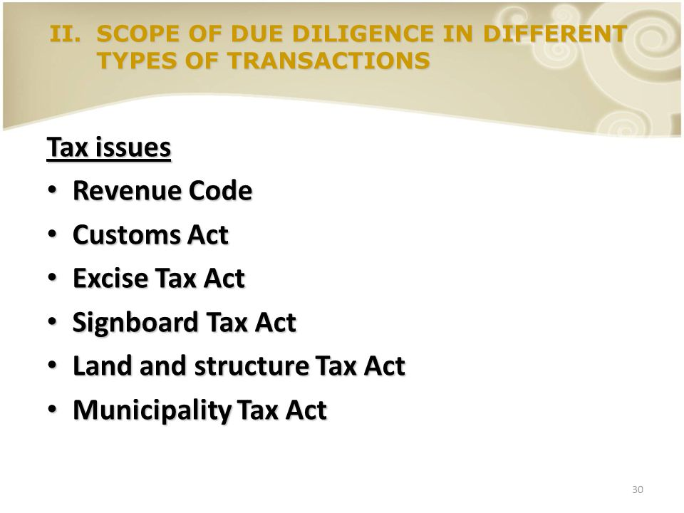 Land and structure Tax Act Municipality Tax Act