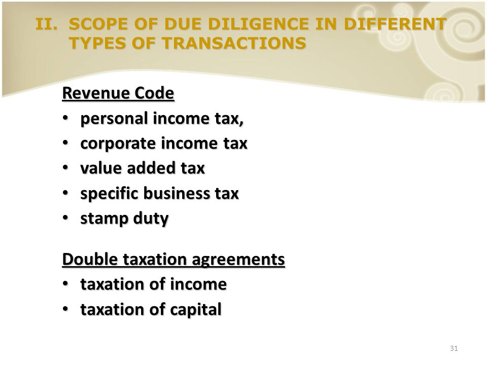 Double taxation agreements taxation of income taxation of capital