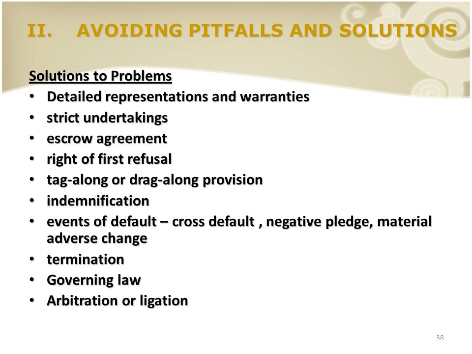 AVOIDING PITFALLS AND SOLUTIONS