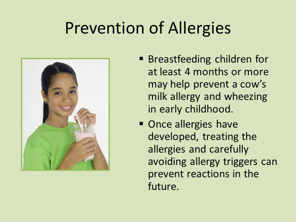 Prevention of Allergies