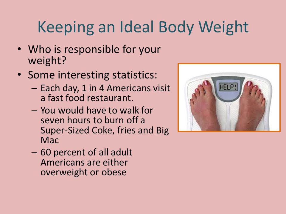 Keeping an Ideal Body Weight