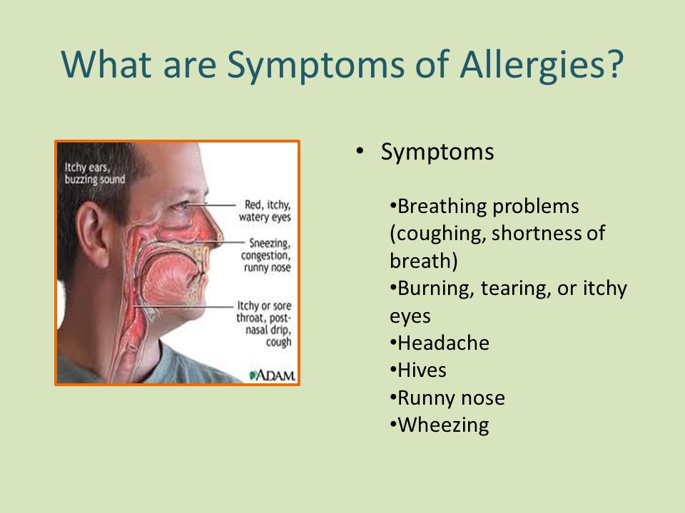 What are Symptoms of Allergies