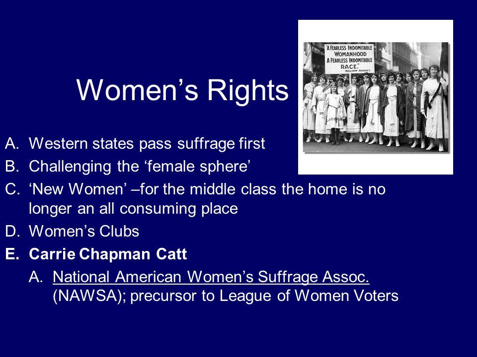 Women's Rights Western states pass suffrage first