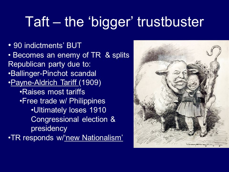 Taft – the 'bigger' trustbuster