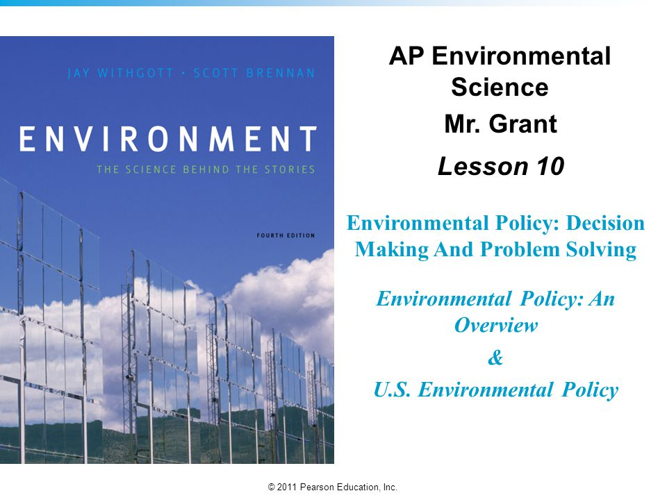 AP Environmental Science Mr. Grant Lesson 10