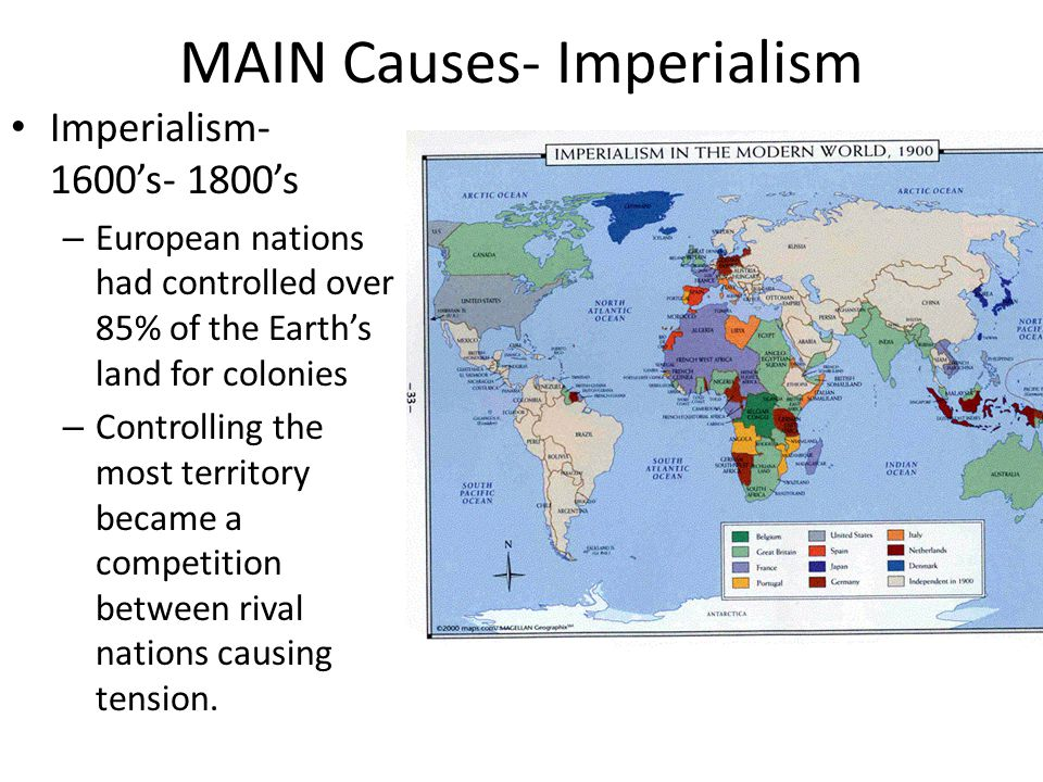 MAIN Causes- Imperialism