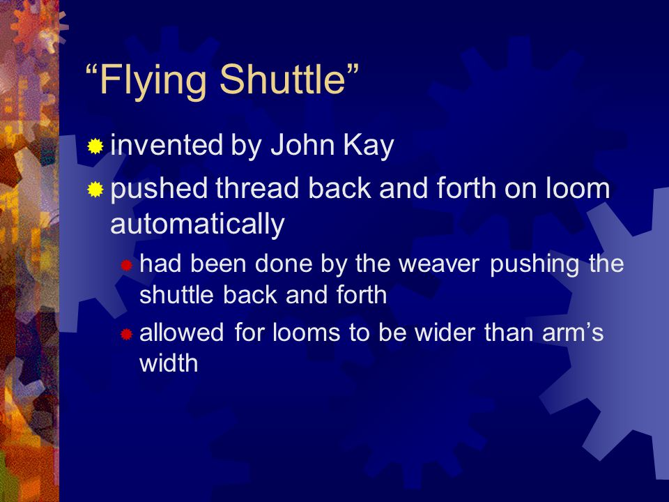 Flying Shuttle invented by John Kay
