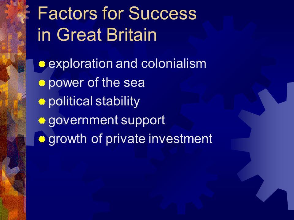 Factors for Success in Great Britain