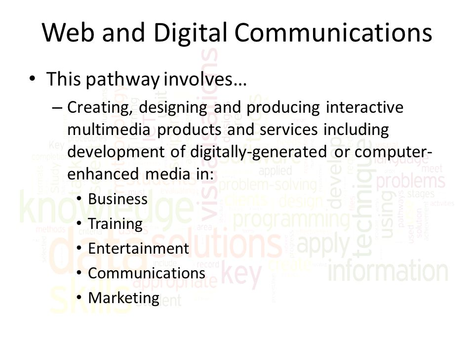 Web and Digital Communications
