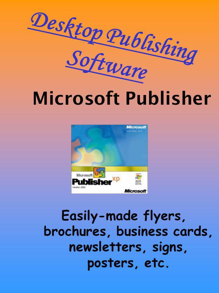 Desktop Publishing Software