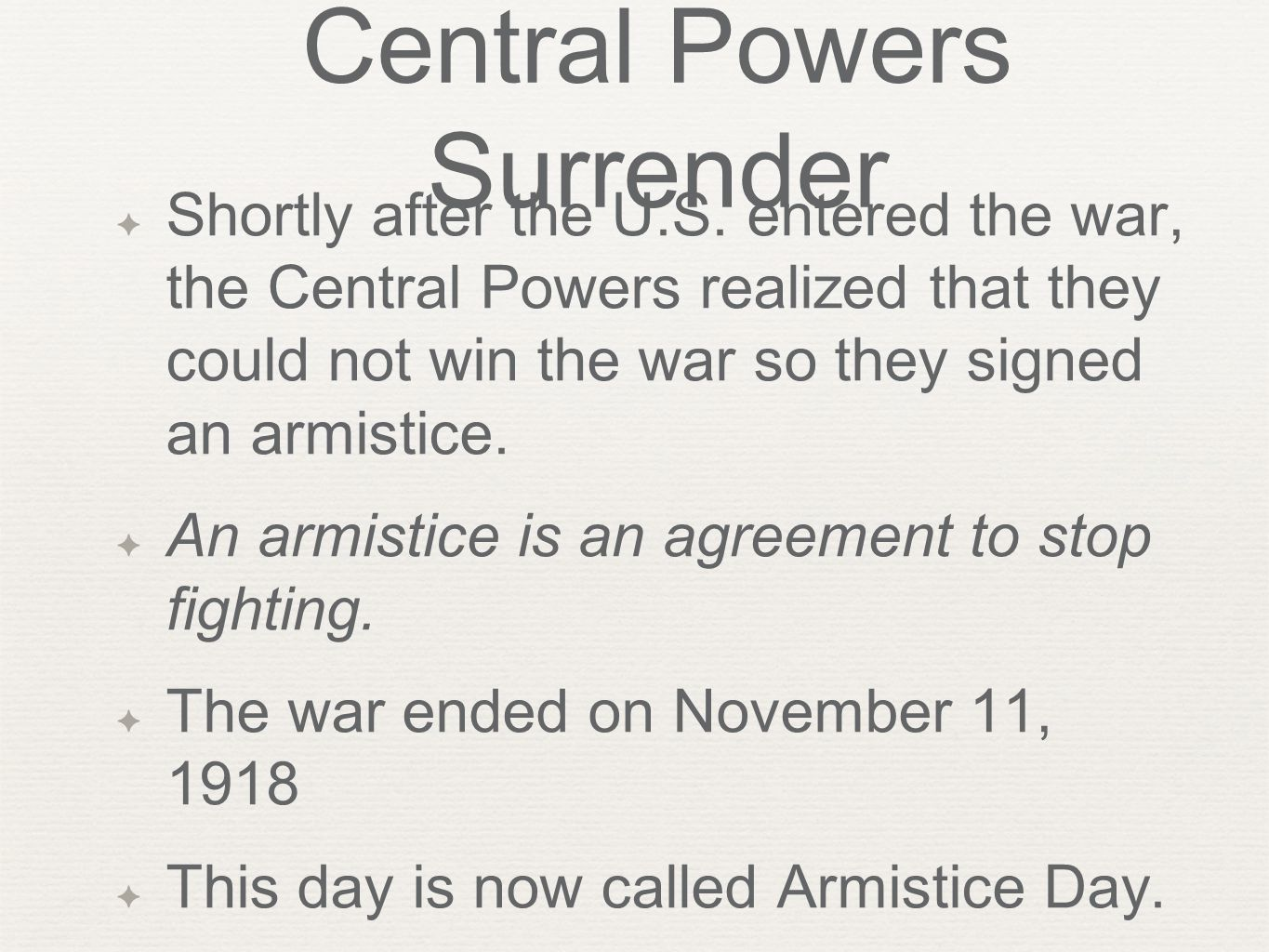 Central Powers Surrender