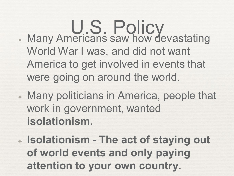 U.S. Policy