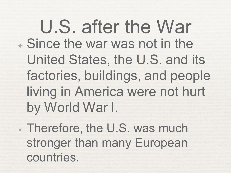 U.S. after the War
