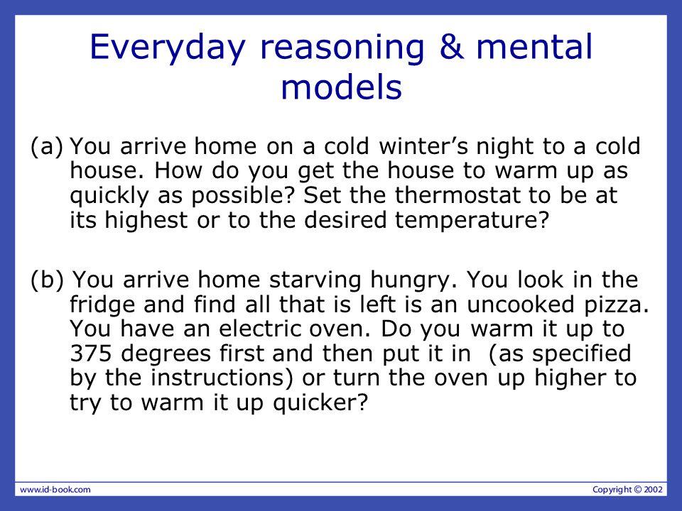 Everyday reasoning & mental models