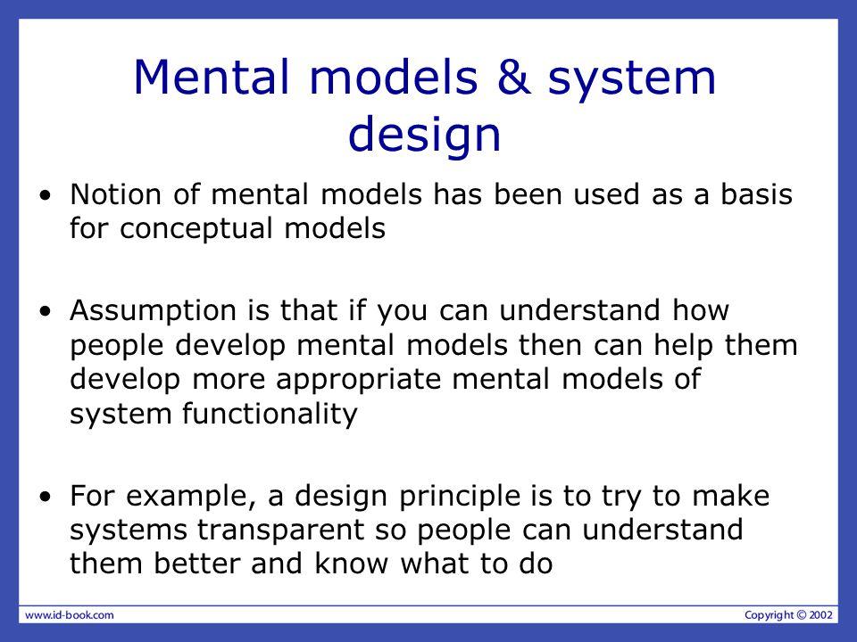 Mental models & system design