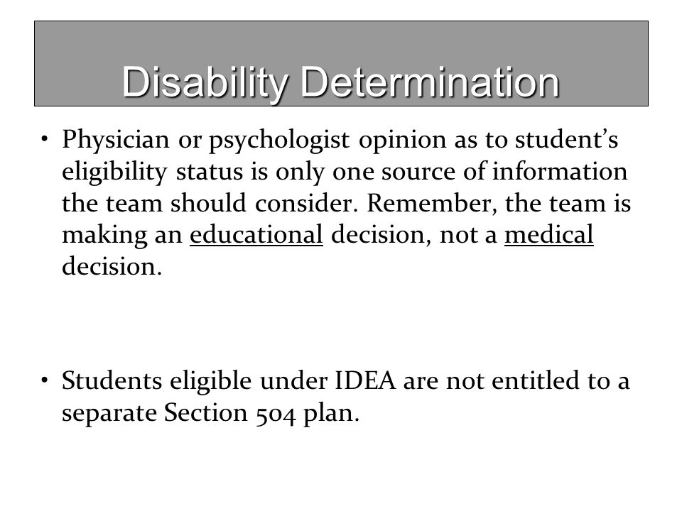 Disability Determination
