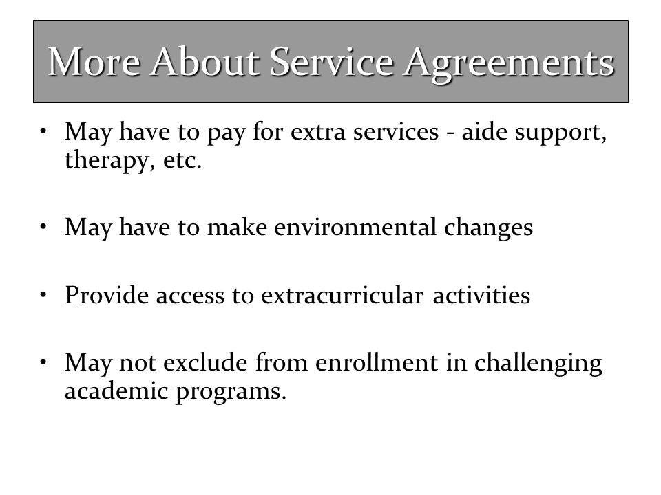 More About Service Agreements