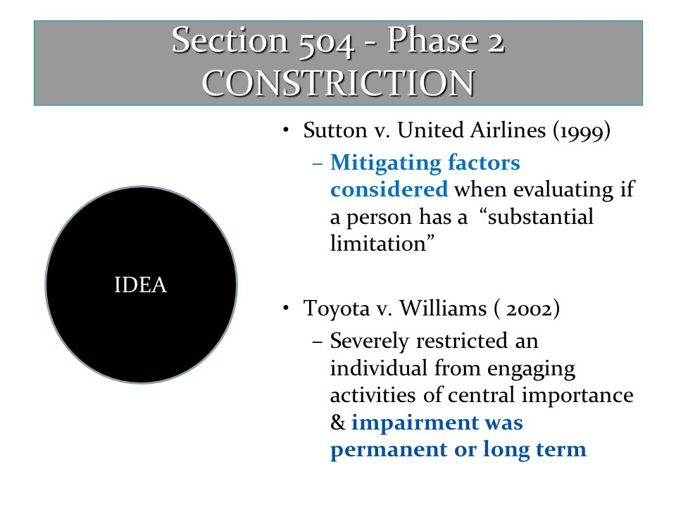 Section 504 - Phase 2 CONSTRICTION