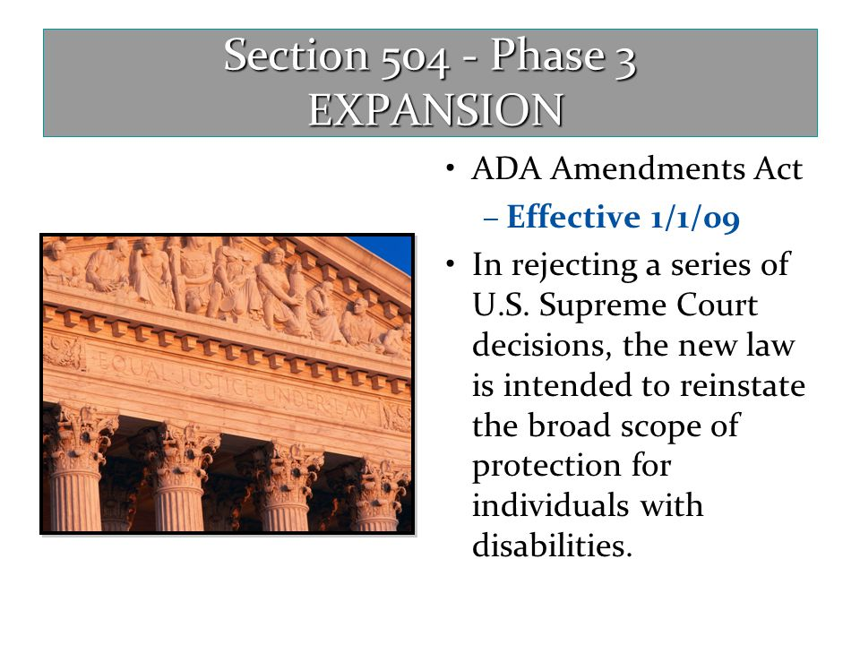 Section 504 - Phase 3 EXPANSION