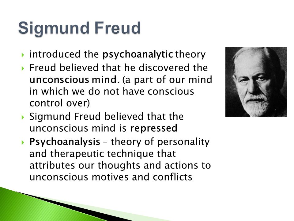 Sigmund Freud introduced the psychoanalytic theory