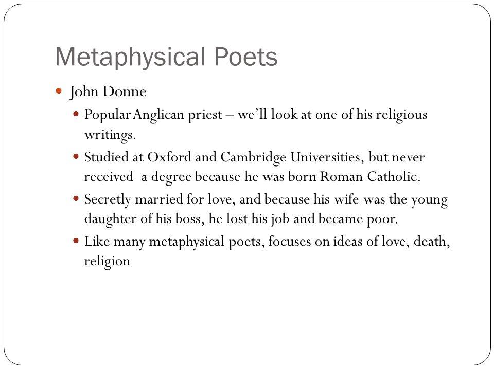 Metaphysical Poets John Donne