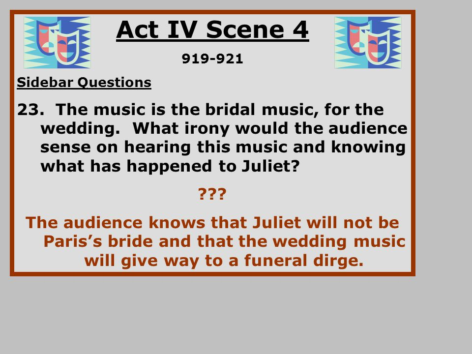 Act IV Scene 4 919-921. Sidebar Questions.