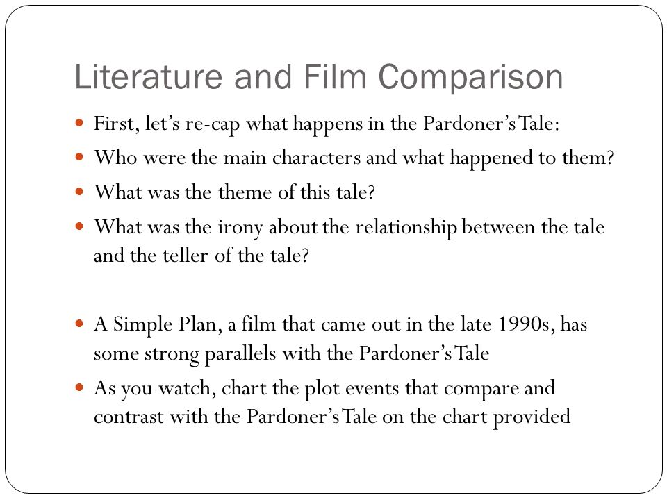 Literature and Film Comparison