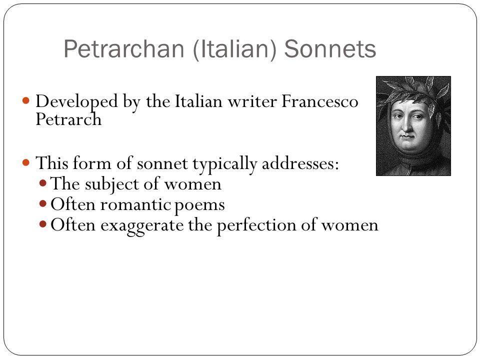Petrarchan (Italian) Sonnets