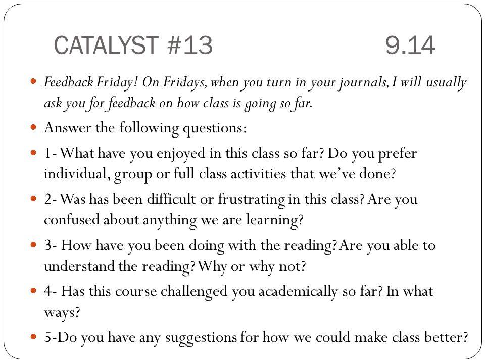 CATALYST #13 9.14
