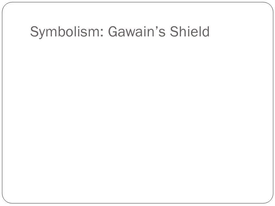 Symbolism: Gawain's Shield