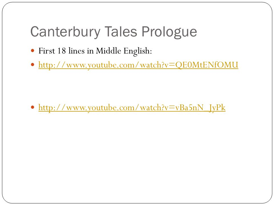 Canterbury Tales Prologue