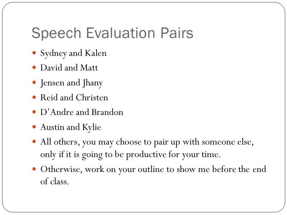 Speech Evaluation Pairs