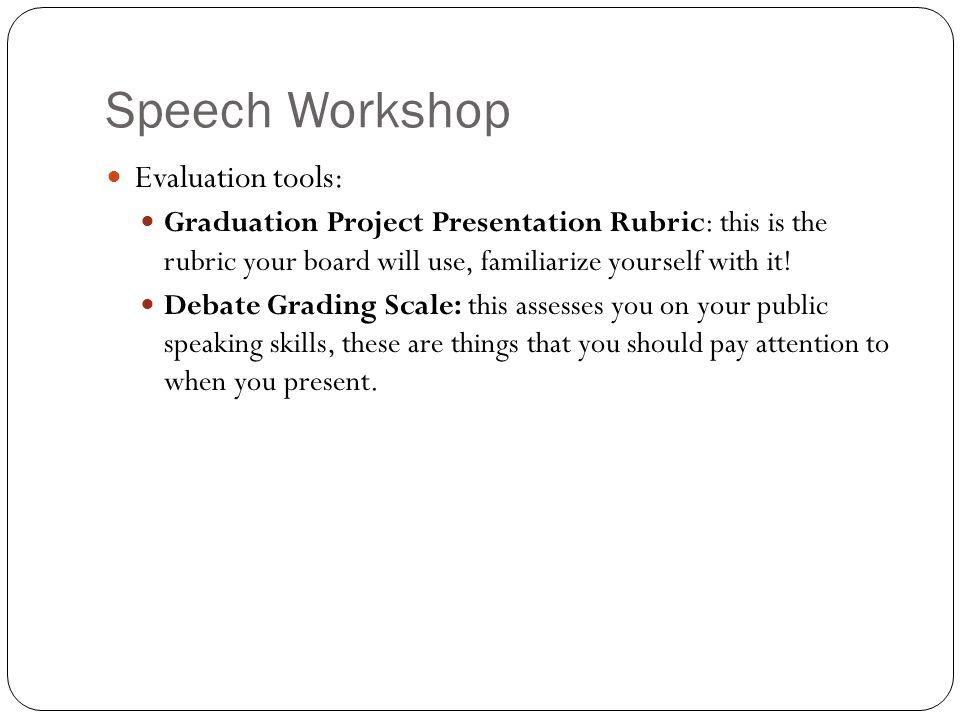 Speech Workshop Evaluation tools: