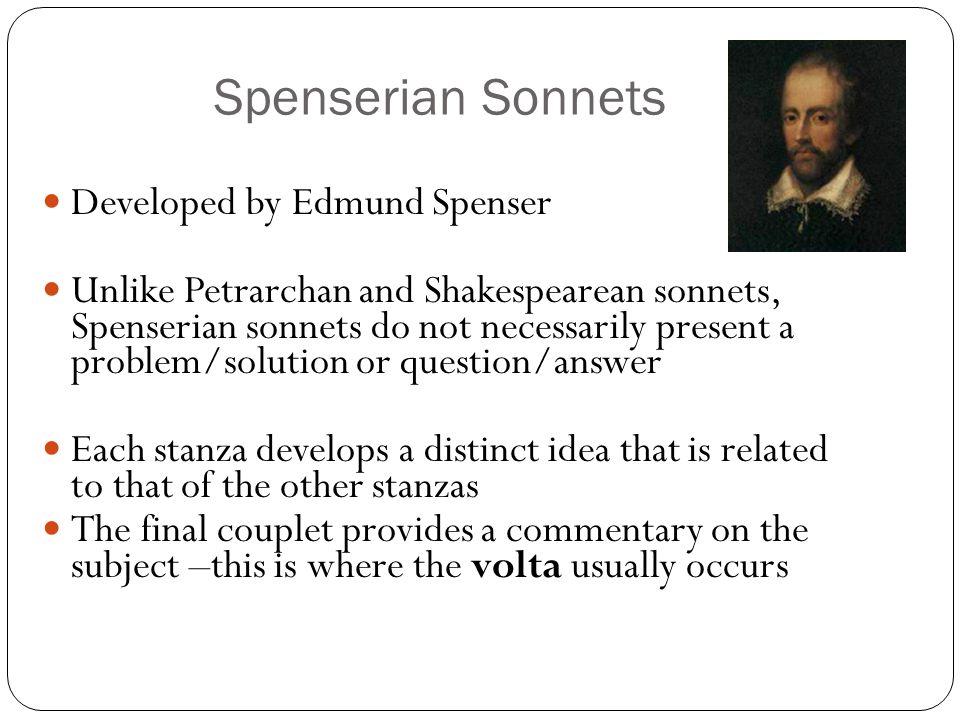 Spenserian Sonnets Developed by Edmund Spenser