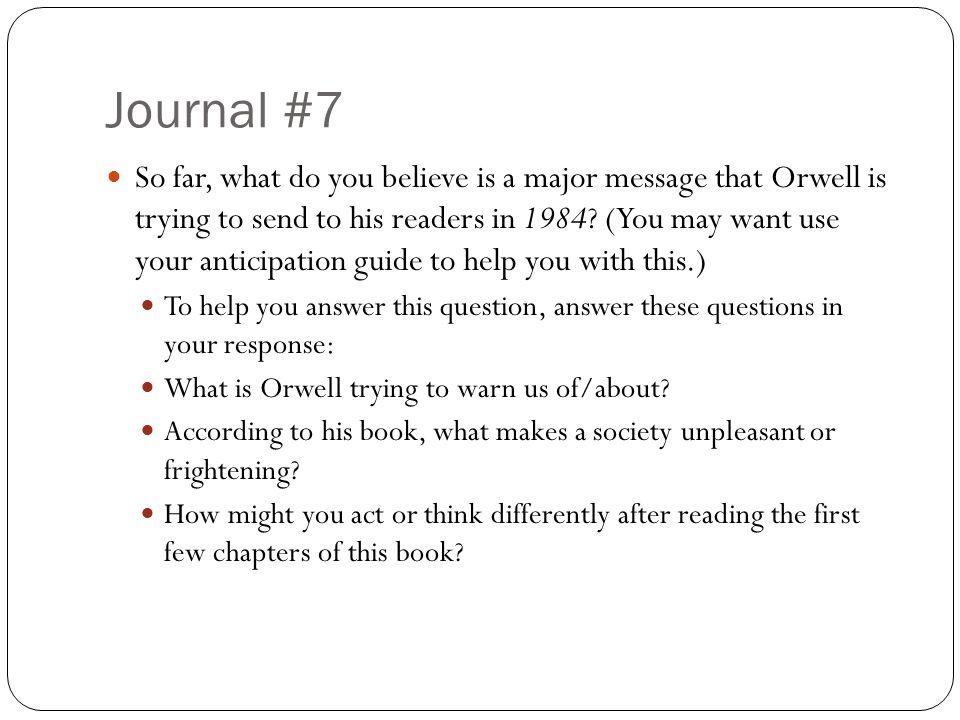 Journal #7