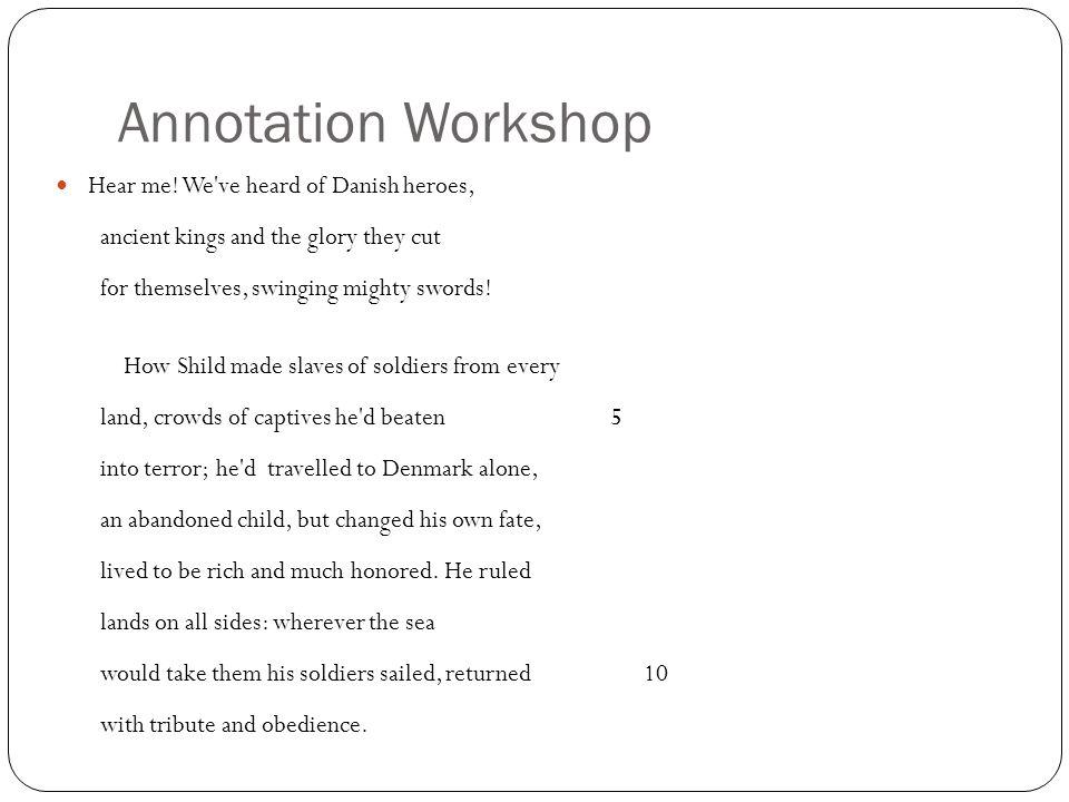 Annotation Workshop