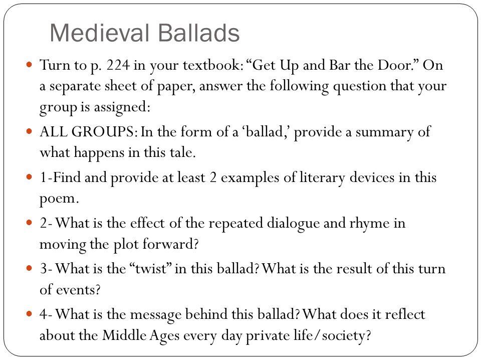 Medieval Ballads