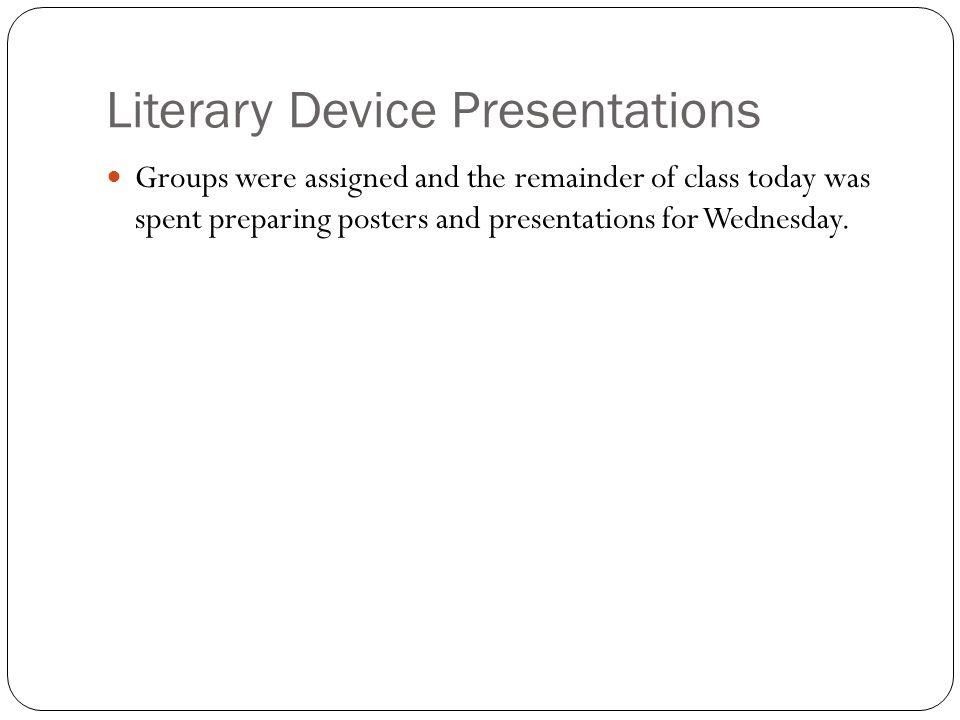 Literary Device Presentations