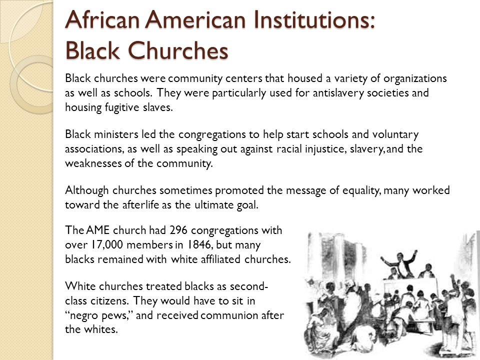 African American Institutions: Black Churches