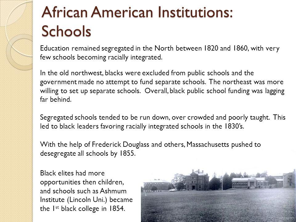 African American Institutions: Schools